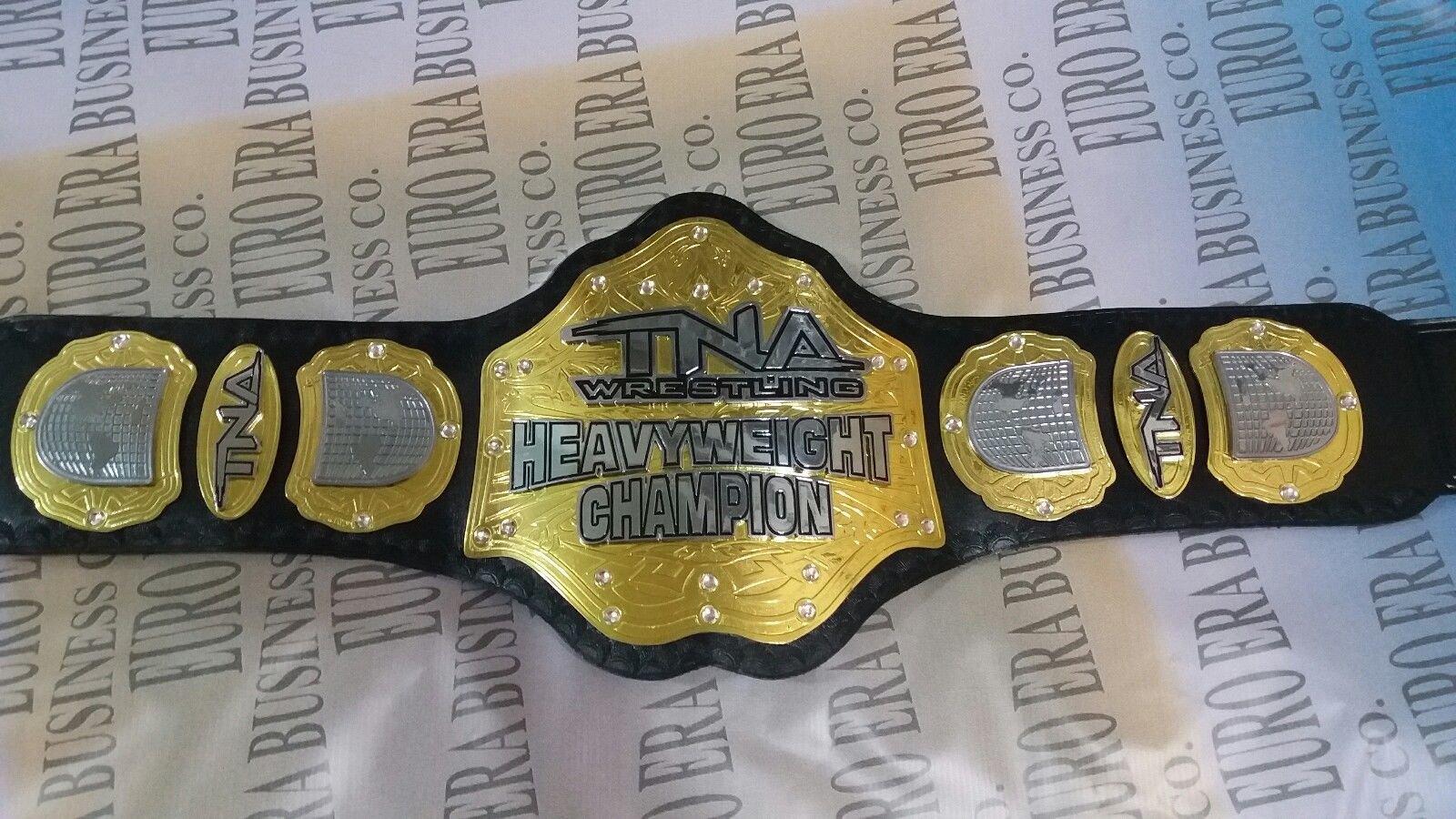 New Replica TNA Championship Belt Adult Size, Metal Plates & Bag