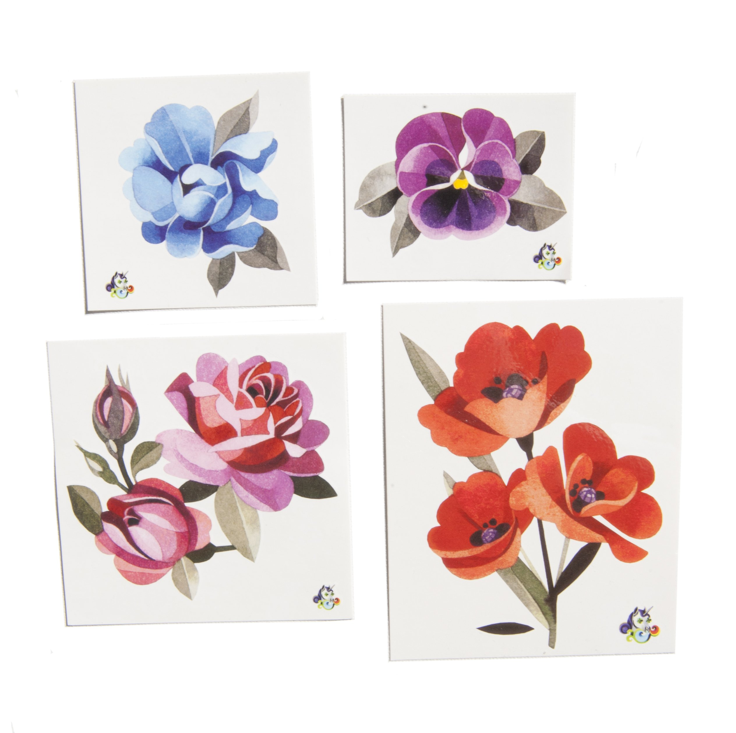 Flower Collection - Sasha Unisex - Quality Temporary Tattoos