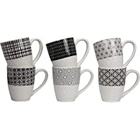Ard'Time EC-6KOMUG Komae Lot de 6 Mugs en porcelaine Ceramique Multicolore 11,7 x 7,8 x 9,8 cm 280 ml