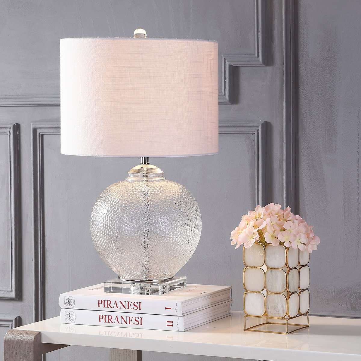 JONATHAN Y JYL2024A Avery 24 Glass//Crystal Table Lamp Clear White
