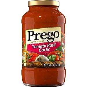 Prego Pasta Sauce, Tomato Basil Garlic, 24 oz