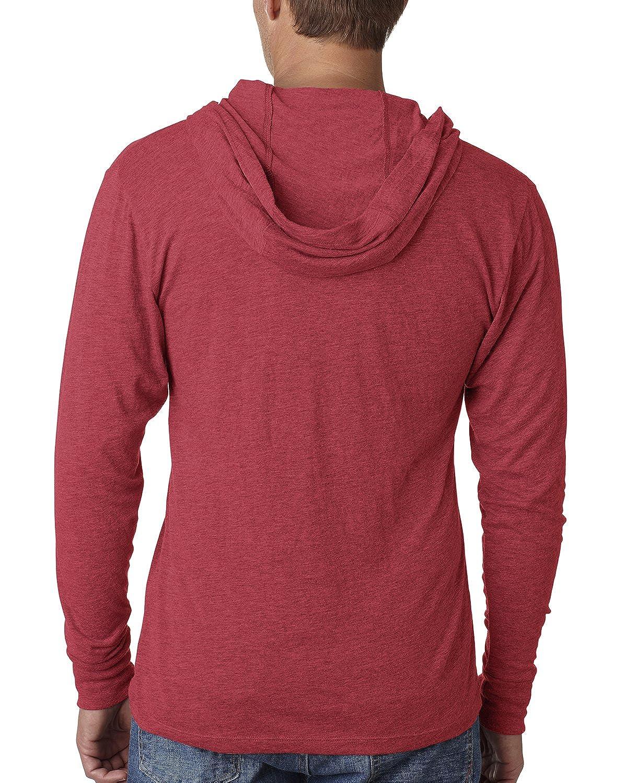 Next Level Apparel Mens Tri-Blend Extreme Soft Rib Knit Hoodie