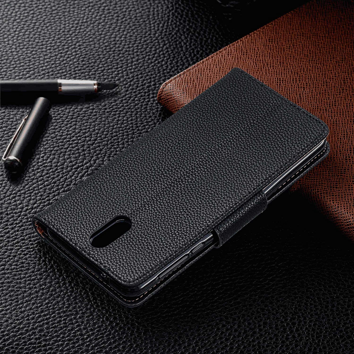 Samsung Galaxy S9 Plus Flip Case Cover for Samsung Galaxy S9 Plus Leather Cell Phone Cover Extra-Durable Business Kickstand Card Holders with Free Waterproof-Bag Absorbing