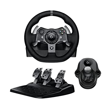 c48bac04a9e Logitech G920 Driving Force Racing Wheel & Pedals Plus Gear Shifter Bundle (Xbox  One &