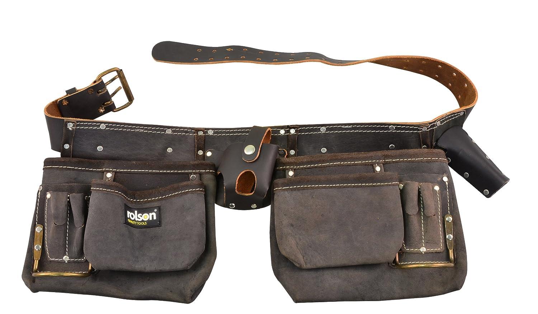 Rolson Tools 68889 Werkzeuggü rtel, doppelt, mit Ö l gegerbtes Spaltleder Rolson Tools Ltd.