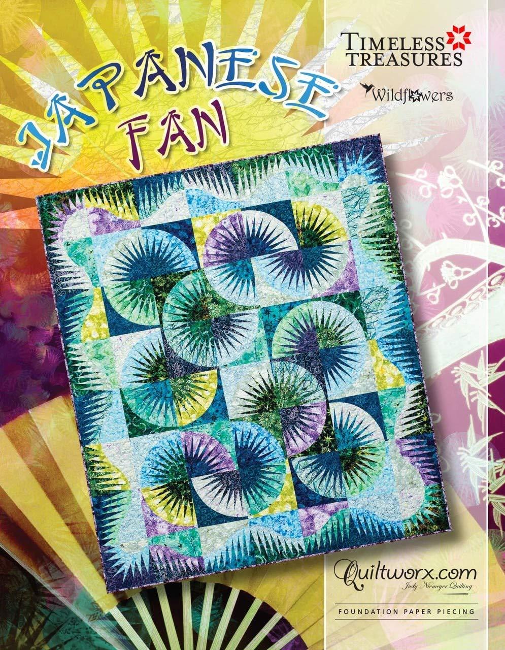 Japanese Fan Quilt Pattern 70 x 80~Foundation Paper Piecing Pattern by Judy Niemeyer of Quiltworx by Judy Niemeyer