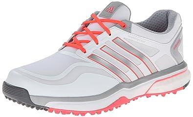 Womens Shoes adidas Golf adiPower Sport Boost Running White/Metallic Silver/Flash Red