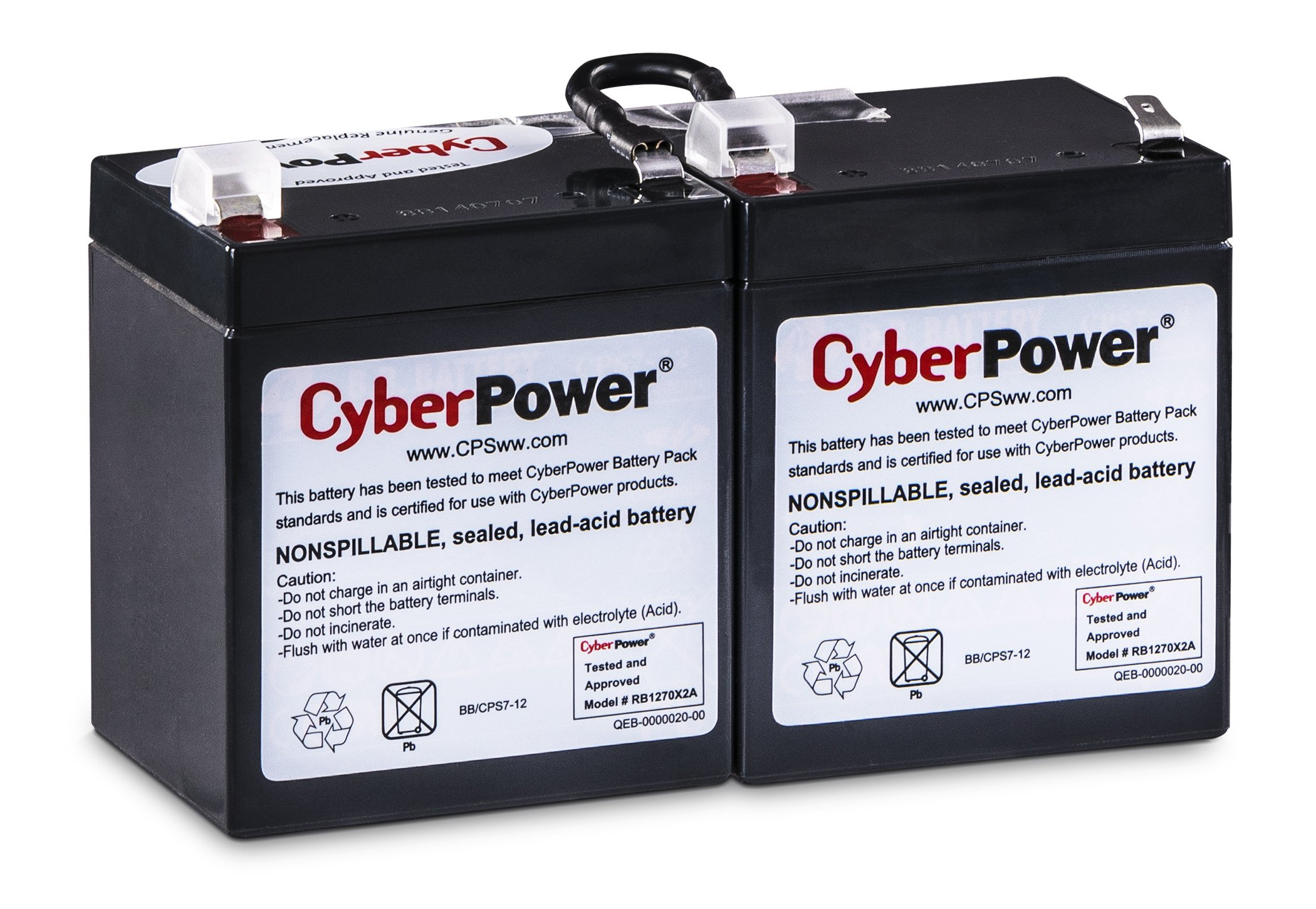 CyberPower RB1270X2A Replacement Battery Cartridge, Maintenance-Free, User Installable by CyberPower