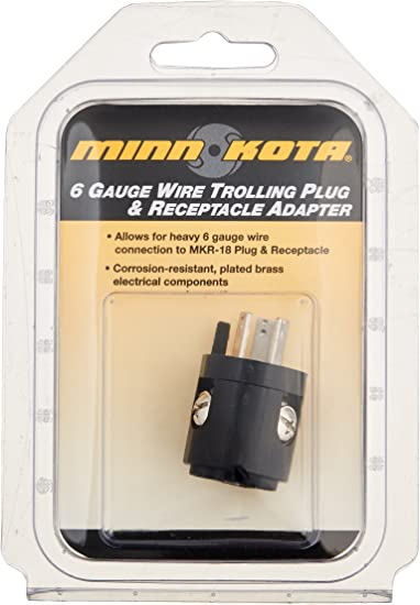 MinnKota MKR 18A 6 ga. Wire Adapter on boat motor wiring, trim tab switch wiring, 24 volt trolling motor wiring, jon boat wiring,