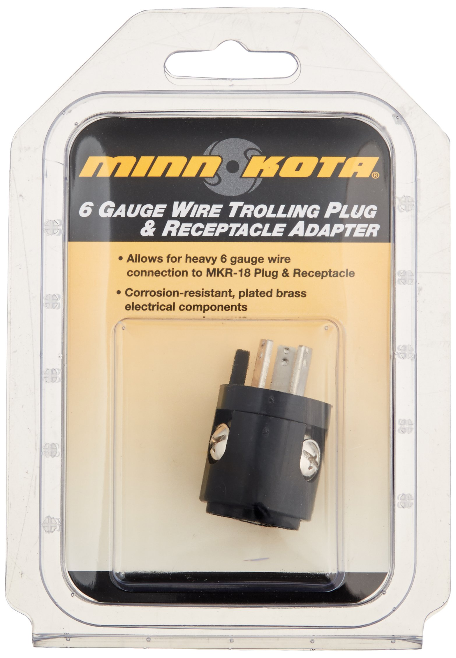 Johnson Outdoors Minnkota Mkr 18 12v Plug Receptacle Bass Tracker 175 Txw Wiring Diagram 18a 6 Ga Wire Adapter