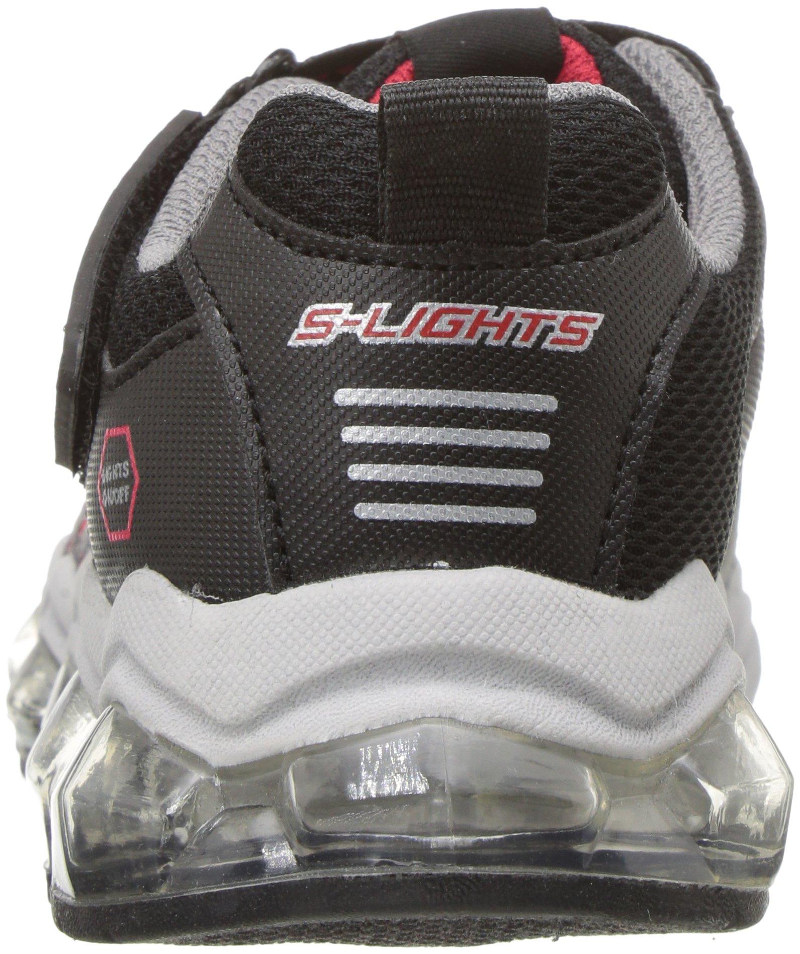 Skechers Kids Boys' Turbo-Flash-90596L Sneaker,Black/red,3 Medium US Little Kid by Skechers (Image #2)