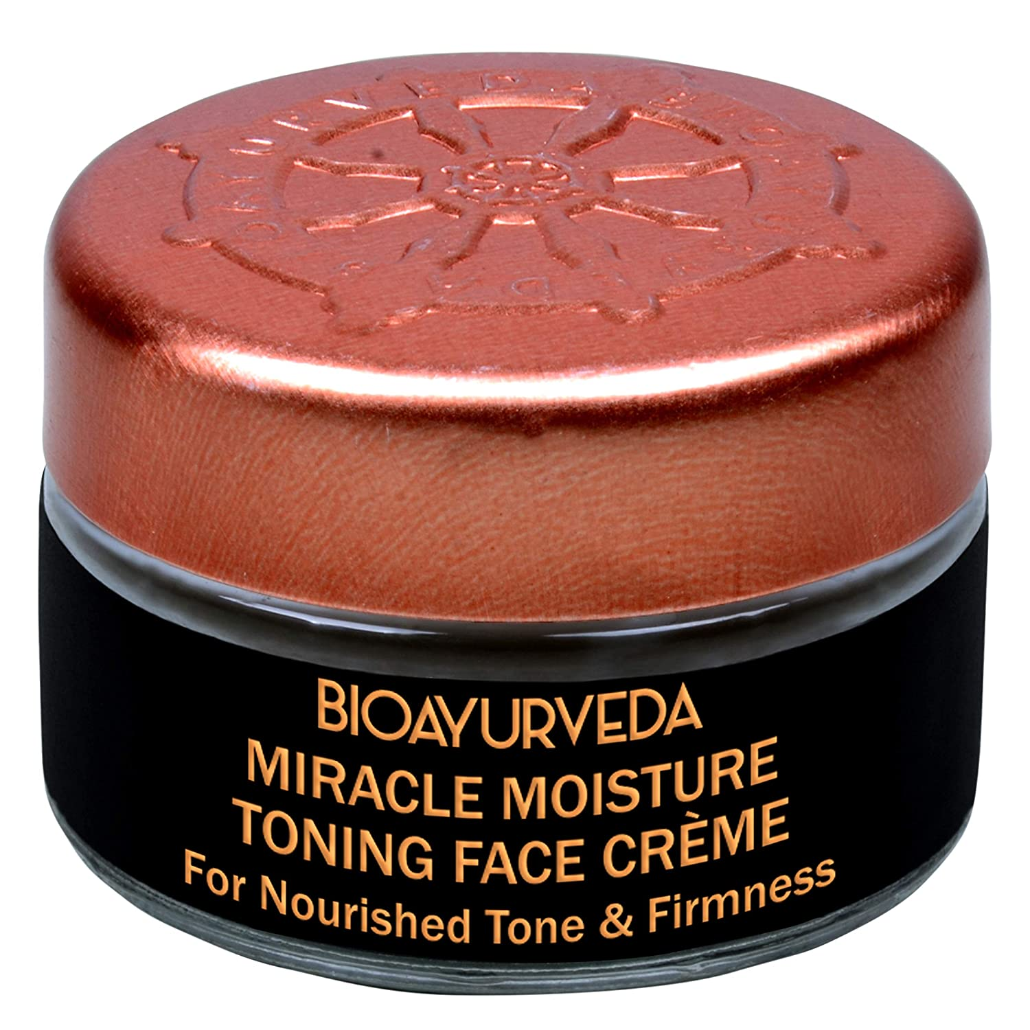 BIOAYURVEDA Miracle Moisture Toning Face Care Cream | Tightening Skin Care, Organic Day & Night Cream Moisturizer-Deep Hydration| for Acne Clogged Pores, Dark Circles, Fine Lines, Blemishes (0.7 oz)
