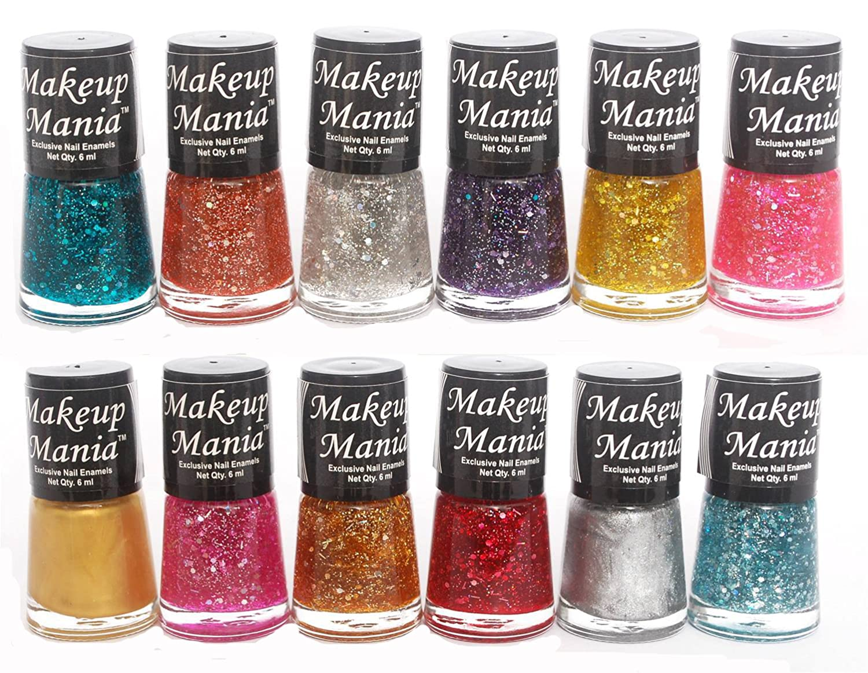 Buy Makeup Mania Ultimate Glitter Nail Polish Set Combo (Multicolor ...