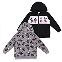 Disney 2-Pack Toddler and Boys Cars and Mickey Mouse Hoodie Apparel