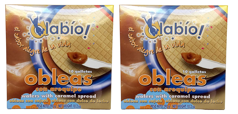 Amazon.com: Alabio! 10 Obleas con Arequipe 290 gr. - 2 Pack   10 Wafers w/Caramel Spread 10.2 oz. - 2 Pack