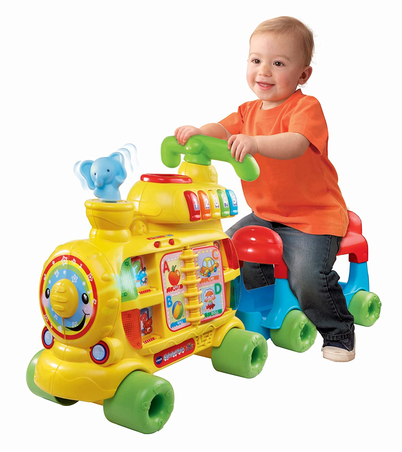 Walker Ride Train Alphabet VTech Sit to Stand New Learn Toy for