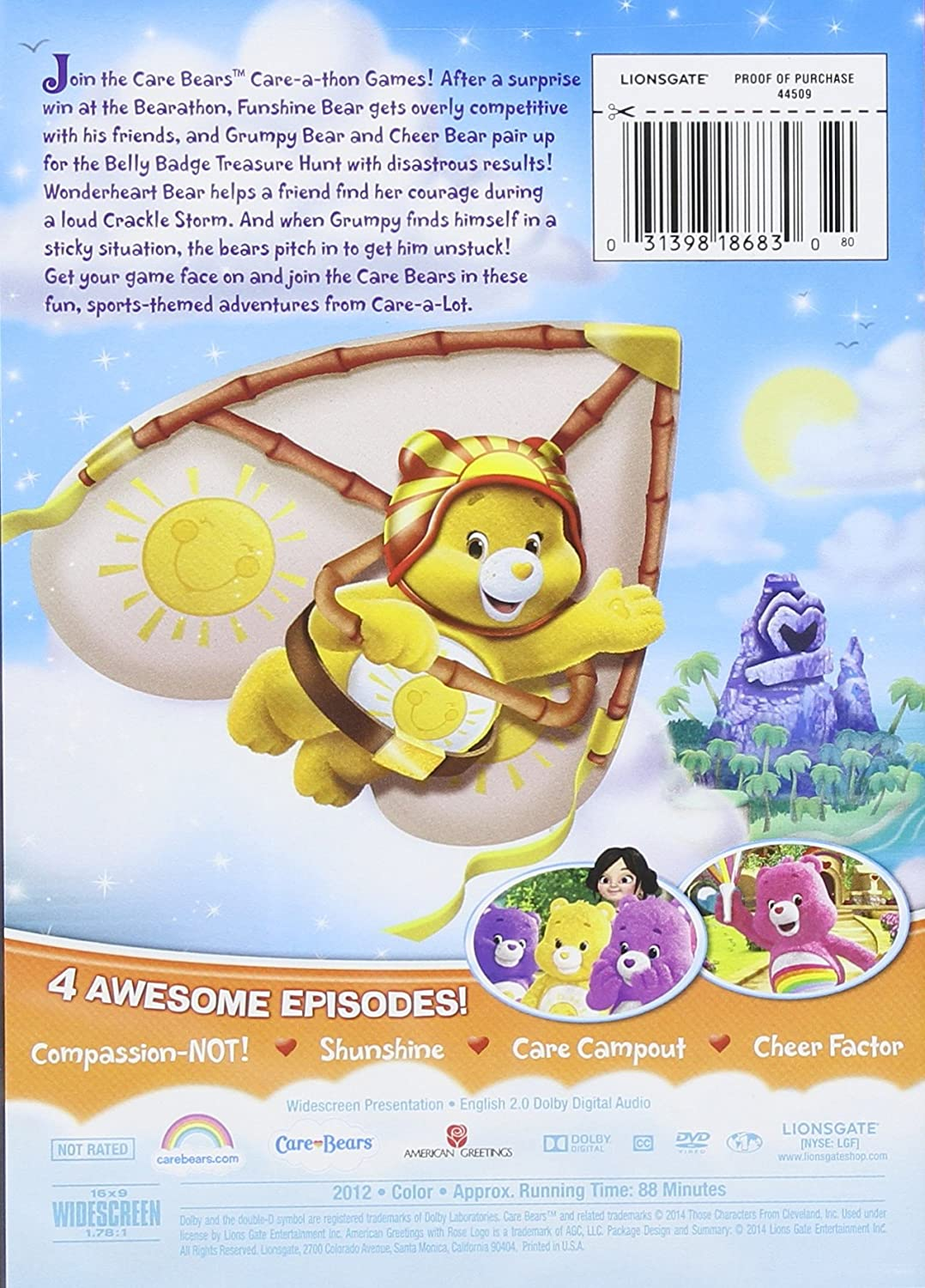 Amazon Care Bears The Care A Thon Games Dvd Care Bears