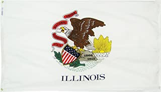 product image for Annin Flagmakers Model 141460 Illinois State Flag 3x5 ft. Nylon SolarGuard Nyl-Glo 100% Made in USA to Official State Design Specifications.