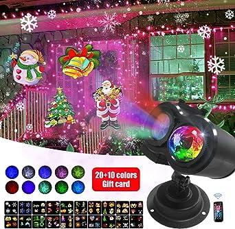 Proyector giratorio de la decoración de la Navidad Proyector ...