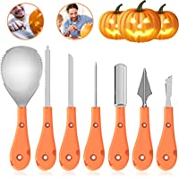 Leknes 7-Pieces Halloween Pumpkin Carving Kit