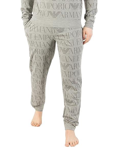 Emporio Armani Hombre Pijama Todo Estampado, Gris: Amazon.es: Ropa y accesorios