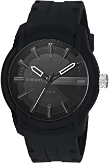 a79ebba25254 Amazon.com  Diesel Men s Double Down Quartz Stainless Steel and ...