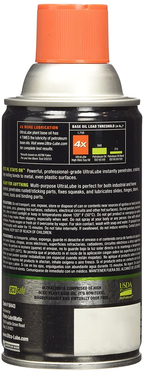 Amazon.com: Ultra Lube 10443 LubriMagic Spray Lubricant and Penetrant Aerosol - 8 oz.: Automotive
