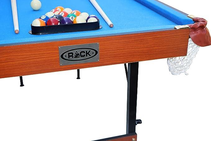 Rack Crux Mesa de Billar Plegable de 4.5 pies, Incluye Juego ...
