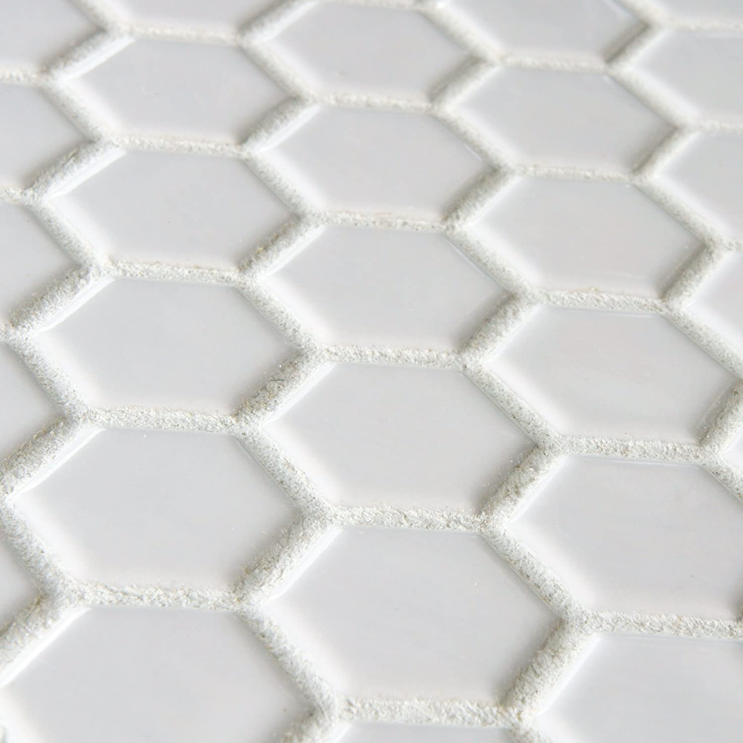 white porcelain tile floor. SomerTile FXLMHW Retro Hexagon Porcelain Floor and Wall Tile  10 25 x 11 75 White Ceramic Tiles Amazon com