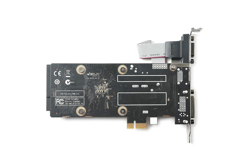 DVI Low Profile Graphic Card ZT-71304-20L HDMI VGA ZOTAC GeForce GT 710 1GB DDR3 PCIE x 1