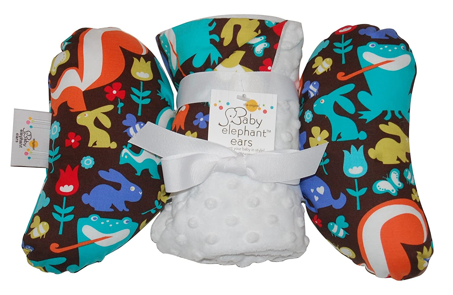 Baby Elephant Ears Head Support Pillow & Matching Blanket Gift Set (Grass Menagerie) by Baby Elephant Ears   B0085X1SZA