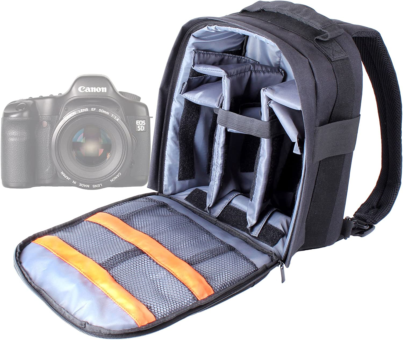 DURAGADGET Mochila Ajustable con Compartimentos para Cámara Canon ...
