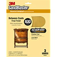 3M SandBlaster Between Coats Sandpaper, 400-Grit, 9-Inch by 11-Inch