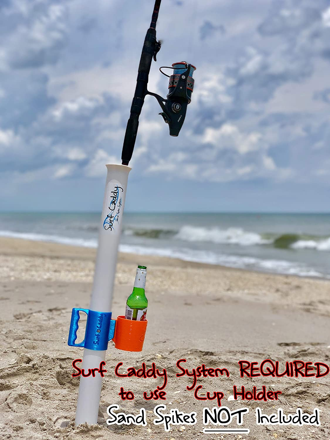 Surf Caddy Sand Spike Carry System Cup Holder