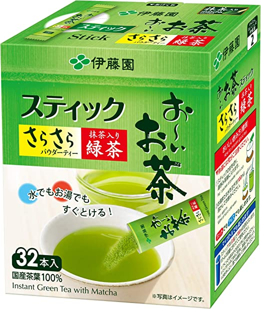 伊藤園 おーいお茶 抹茶入りさらさら緑茶 0.8g×32本 (スティックタイプ)