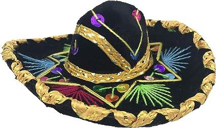 12 Mini Mexican Charro Hats Mariachi Sombreros Party Favors Decorations Set