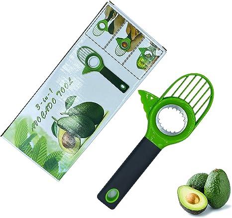 Avocado Slicer Green Plastic Splits Slices Pitter Kitchen Gadget