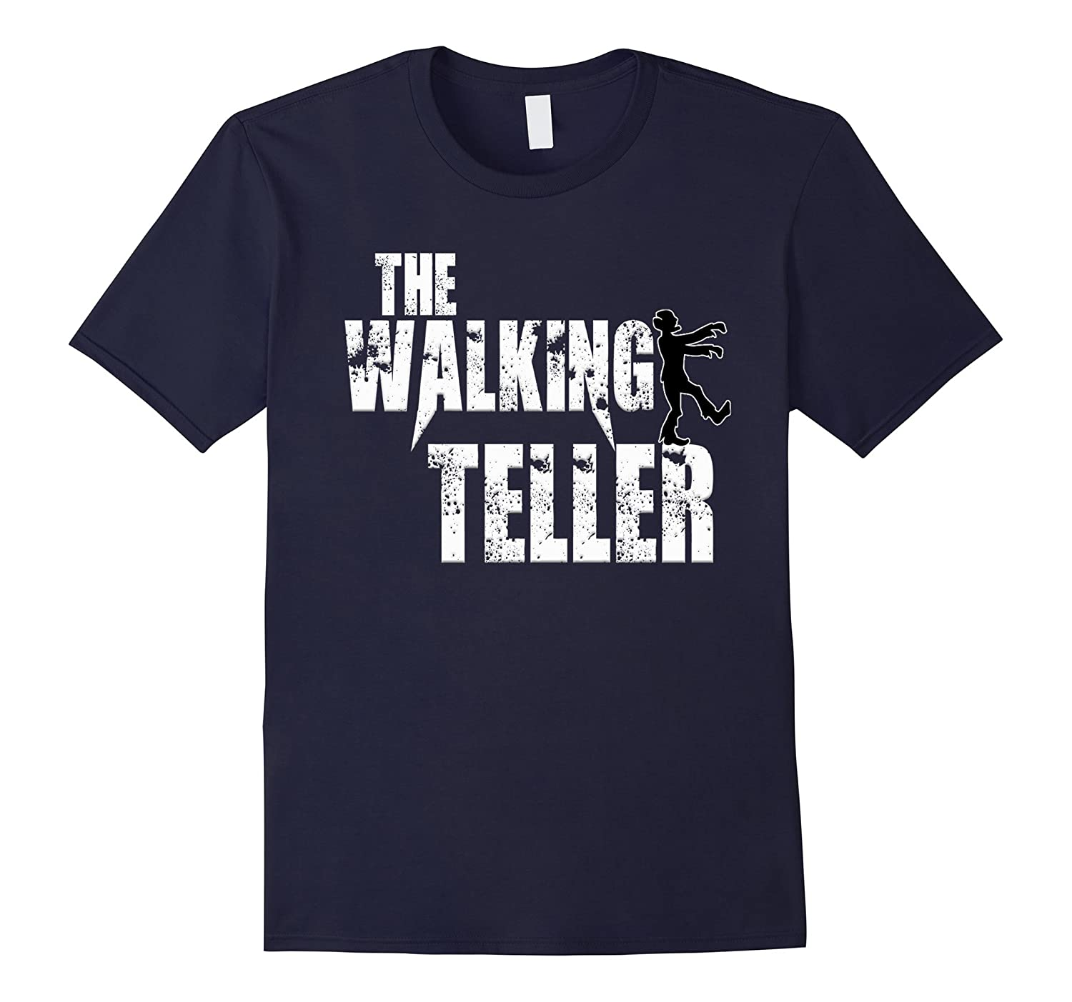 Teller Tshirt The Walking Cashier funny zombie tee shirt-TD