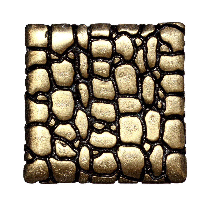 Antique Brass Big Sky Hardware Sierra Lifestyles Crocodile Square Knob