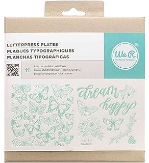 American Crafts 662693 11 Piece We R Memory Keepers Letterpress Printing Plates Wildflower