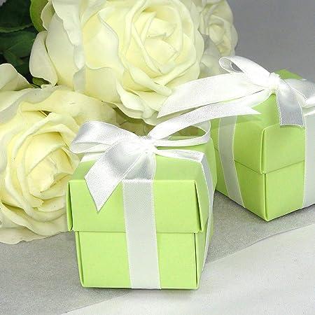 Einssein 12x Caja de Regalo Boda Inbox Verde Claro Cajas Bonitas para cajitas Regalos Bombones Carton bolsitas Papel chuches Bodas Bautizo pequeñas pequeña recordatorios comunion Navidad Decorar: Amazon.es: Hogar