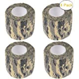 Camo Gun Wrap Tape Rifle Shotgun Camouflage Form Wrap Military Army Hunting Self-Adhesive Protective Multi-Functional Bandage for Firearms,Rifles,Flashlights,Scope,Knife,Bicycle