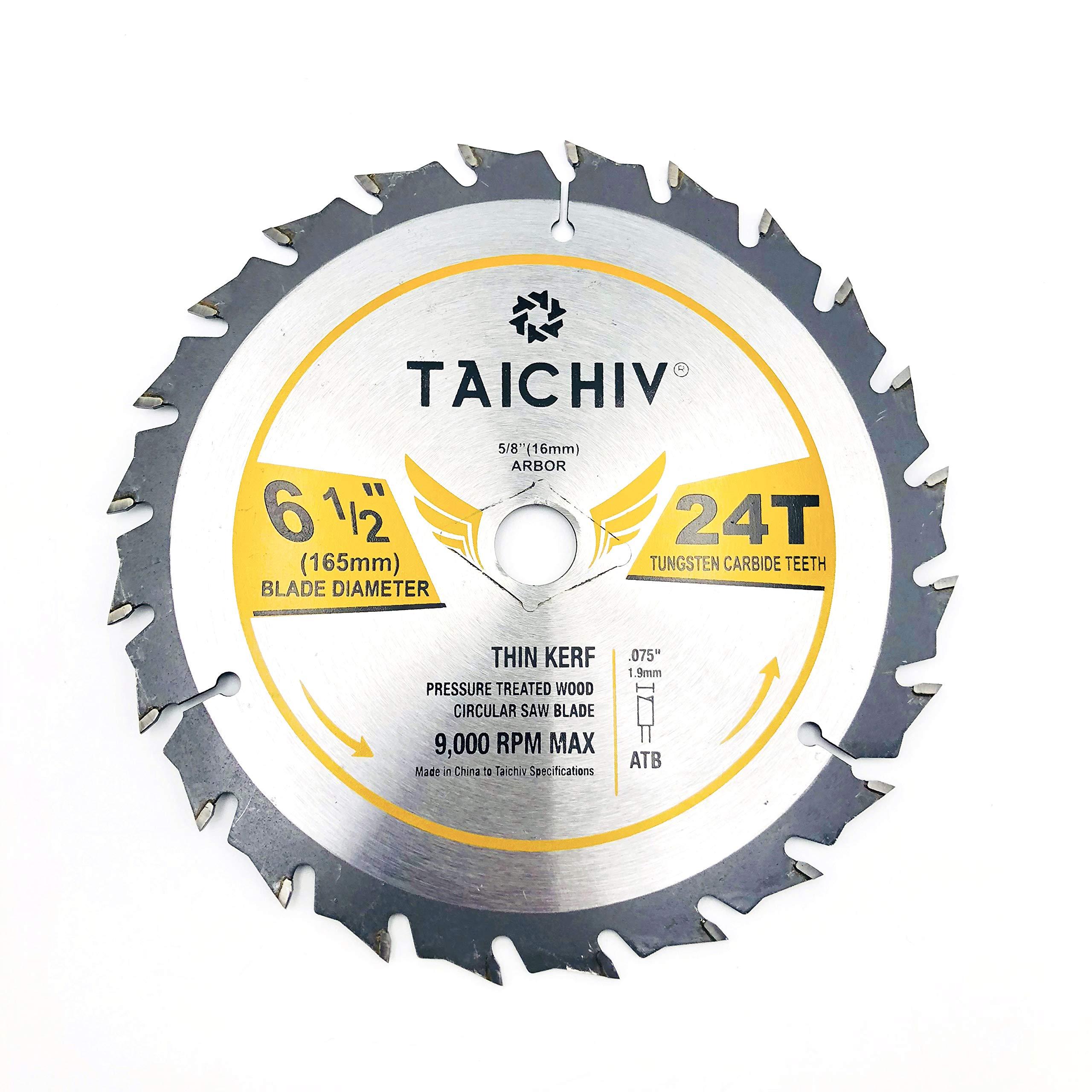 Disco Sierra TAICHIV 6 1/2 x 24T ATB Carbide Framing s con