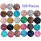 SBYURE 120 Pieces Resin Round Flat Back Mixed Shinny Color for Jewelry Making,DIY, Crafts,12mm