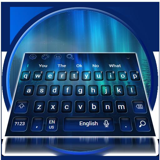 Blue Dark Black Keyboard Theme