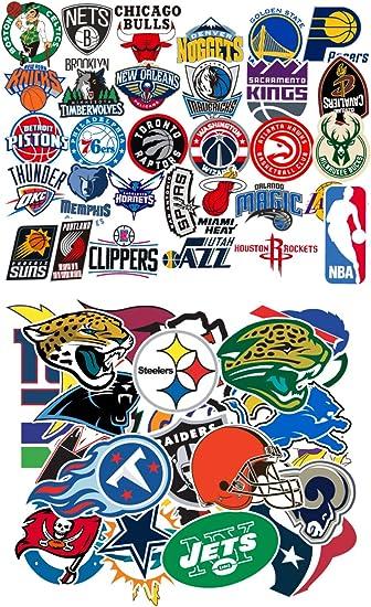 Amazon Com Ratgoo Waterproof Graffiti Stickers Of 31 Pcs Nba Basketball Team Logo 32 Pcs Nfl Football Teams Logo For Kids Children And Adult For Laptop Water Bottle Car Bumper Motorcycle Helmet Luggage