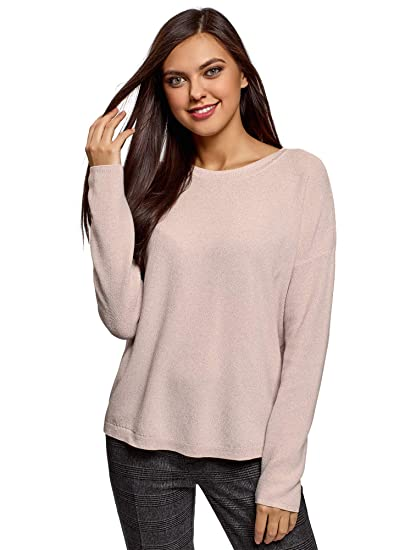oodji Collection Mujer Jersey de Dos Colores