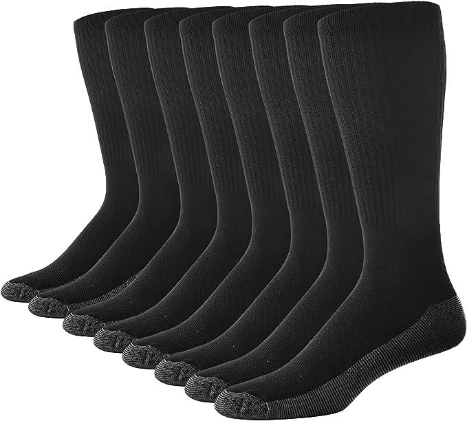Casual Garb Mens Crew Socks 8 Pair Pack Moisture Wicking Socks Crew Work Socks For Men at Amazon Men's Clothing store