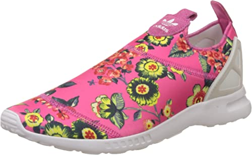 adidas Women's ZX Flux Smooth Low Top Slippers Pink White