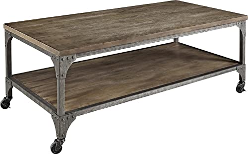 Ameriwood Home Cecil Wood Veneer Coffee Table, Rustic